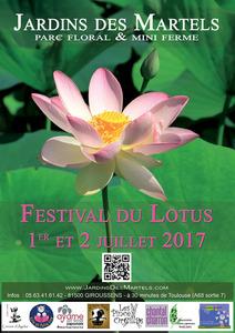 Festival du Lotus du jardin des Martels - Giroussens - Juillet 2017