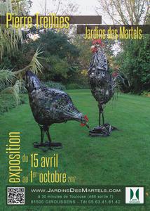 Pierre Treilhes : Sculptures métalliques dans les jardins
