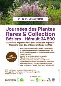 Journées des Plantes Rares & Collections - Beziers - Avril 2018