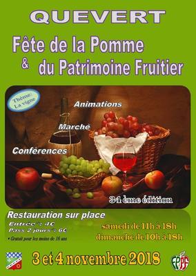 34ème « Fête de la Pomme et du Patrimoine Fruitier »  - Quévert - Novembre 2018