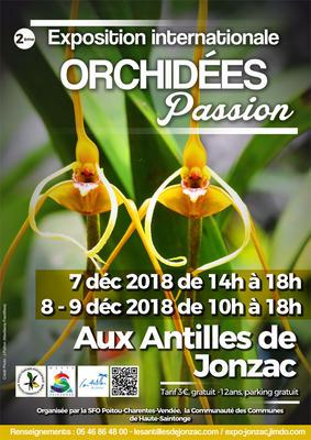 « Orchidées passion » : Exposition Internationnale d'Orchidées - Jonzac - Décembre 2018