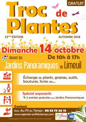 Troc aux plantes  - Limeuil - Octobre 2018
