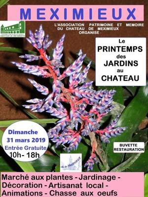 Printemps des jardins au Château de Meximieux - MEXIMIEUX - Mars 2019