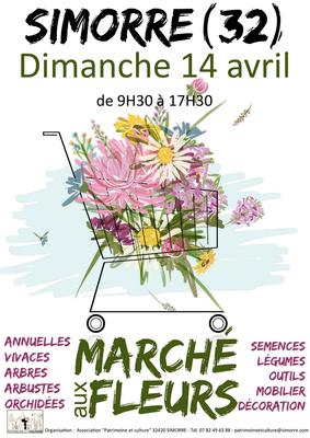 Marché aux fleurs - Simorre - Avril 2019