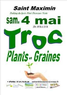 Troc aux plants et graines  - SAINT-MAXIMIN-LA-SAINTE-BAUME - Mai 2019