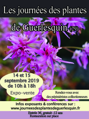 Les Journées des plantes de Guerlesquin - 4e édition - Guerlesquin - Septembre 2019