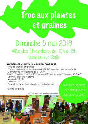 Troc aux plantes et graines - QUESNOY-SUR-DEULE - Mai 2019