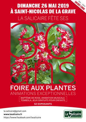 51e Foire aux plantes rares et de collection - Saint-Nicolas-de-la-Grave - Mai 2019
