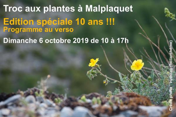 10ème troc aux plantes de Malplaquet - TAISNIÈRES SUR HON - Octobre 2019
