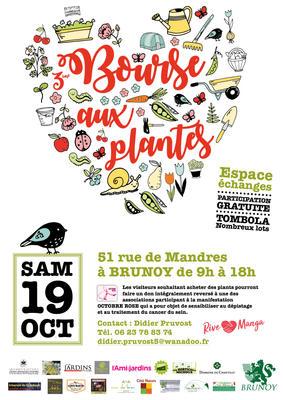 3ème Bourse aux plantes solidaire - BRUNOY - Octobre 2019