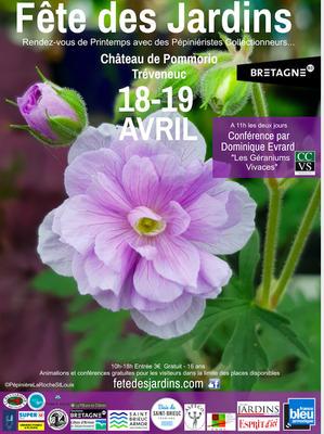 Fête des Jardins au château de Pommorio - TRÉVENEUC - Avril 2020