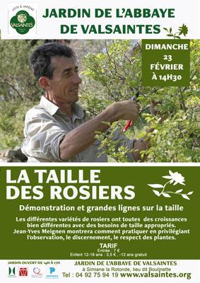 Démonstration de taille des rosiers par Jean-Yves Meignen - SIMIANE LA ROTONDE - Février 2020